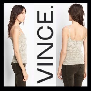 VINCE Velvet Scoop Neck Cami